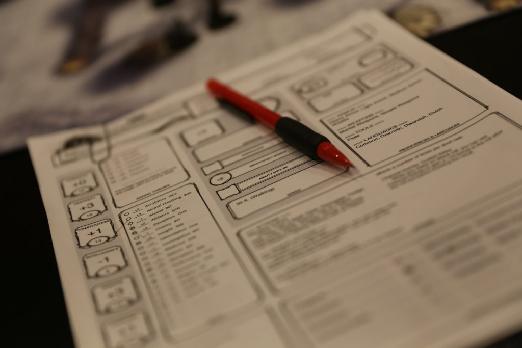 Dungeons & Dragons Character Sheet